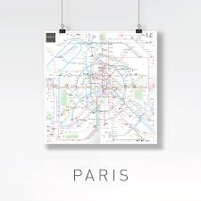 Metro Paris Map by Inat Metro Mapping Standard Jug Cerovic Architect