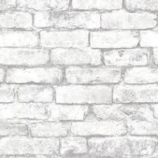 white grey brick wallpaper for the kitchen backsplash 40 this