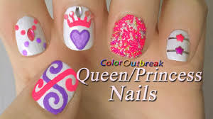 prom queen princess nail art designs swirls dots rhinestones