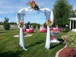 wedding arbor used wedding backdrops backgrounds decorations columns
