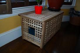 litter box side table an easy diy cat litter box ideas homesfeed