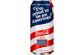 coke gets patriotic with limited edition u s flag can print