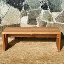 Solid Wood Patio Furniture by Redwood Benches Foter
