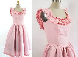 Prom Dresses From The 80s 1980s Pink Taffeta Ruffle Dress 80s Pink Prom Dress Cotton Candy
