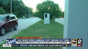 baltimore red light camera baltimore speed camera fines start monday youtube