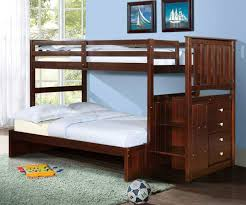 picture bunk beds plus stairs brown lacquer twin bed storage in