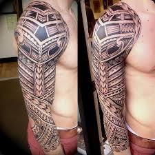 tribal aztec warrior tattoo design