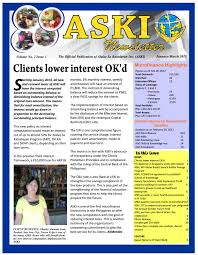 aski e newsletter january march 2013 issue by alalay sa kaunlaran