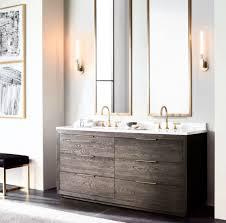 High End Bathroom Furniture Bathrooms Sleek Vanity From Rh Modern The Luxury Look Of
