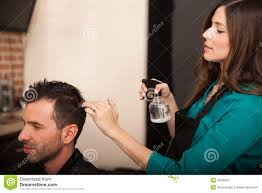 spraying water for a haircut stock photo image 39930297
