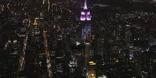 empire state building lights tonight bazaar projects its most iconic images on the empire state building