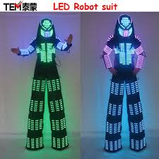 Light Up Stick Figure Halloween Costume Online Buy Wholesale Led Robot Costume From China Led Robot