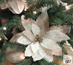 how to make burlap poinsettias for christmas decor diva of diy