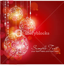 red christmas background with christmas ornaments royalty free