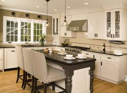 Mocha Kitchen Cabinets by Black Cabinets Kitchen Captivating Classic Black And White Kitchen