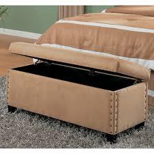 Storage Bench Bedroom Furniture Coaster Upholstered Storage Bench Beige Walmart Com