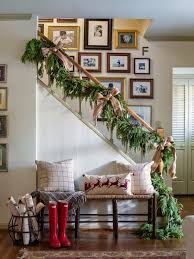 How To Decorate A Banister Best 25 Christmas Staircase Decor Ideas On Pinterest Christmas