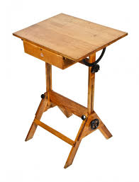 Wood Drafting Table Furniture Completely Intact And Fully Adjsutable Vintage