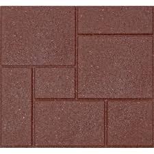 Concrete Patio Blocks 18x18 by Envirotile Cobblestone 18 In X 18 In Terra Cotta Rubber Paver