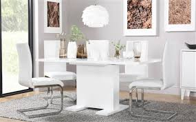 High Gloss Extending Dining Table White Dining Sets Furniture Choice