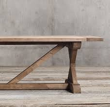 X Table Base Wood X Base Rectangular Extension Dining Table