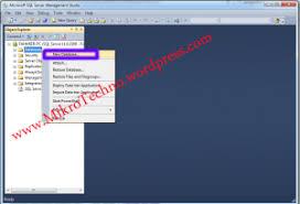 membuat database baru di sql server cara membuat database di sql server 2012 mikro techno