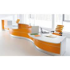 White Curved Reception Desk Valde Curved High Gloss Illuminated Reception Desk Modern White