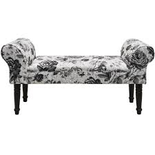 Shabby Chic Chaise by Black Rose Shabby Chic Chaise Padded Pouffe Stool Wood Legs