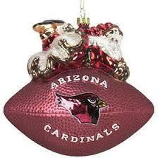arizona cardinals 5 1 2 peggy abrams glass football ornament