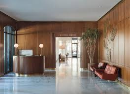 mid century modern lobby and reception in charleston sc by
