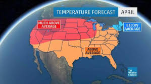 us weather map for april april forecast update warm temperatures expected for much of