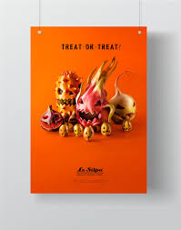 treat or treat halloween poster for le silpo on behance