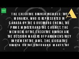 Role Of Cabinet Members What Is The Role Of The Executive Branch In Canada Youtube