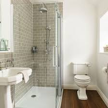 Grey Tiled and White Bathroom Ideal Home Housetohome