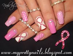 breast cancer nail designs pictures
