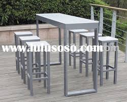 Patio Bar Table Cool Outdoor Tall Table Furniture Easy Patio With Home Design