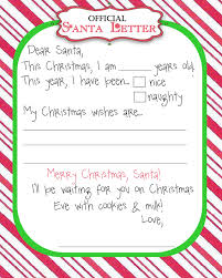 santa letter template free all about template