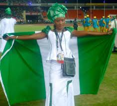 Nigerian Flag Oshonaike Is Team Nigeria U0027s Flag Bearer Freedom Online