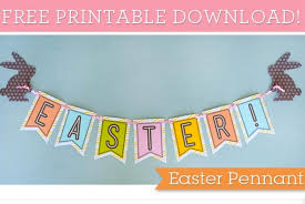 Easter Decorations Bunting by Easter Banner Printable U2014 Printable Decor