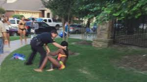 mckinney texas cop placed on leave after pulling gun on teens at