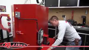 heated parts washer cabinet standard stw 500 heated spray washer cabinet youtube