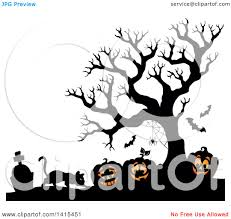 halloween graveyard clipart clipart of a cat with lit jackolanterns in a cemetery with a