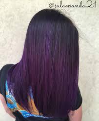 purple balayage done by me salamanda21 manda halladay my hair