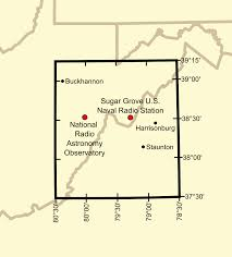 Virginia Area Code Map by United States National Radio Quiet Zone Wikipedia
