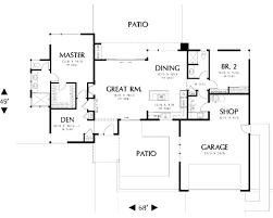 modern style house plans modern style house plan 2 beds 2 00 baths 1508 sq ft plan 48 505