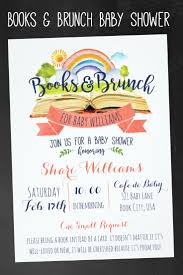 books and brunch baby shower invitations book themed baby shower