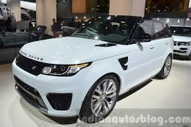 range rover svr white range rover sport svr front at iaa 2015 indian autos blog