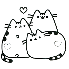 thanksgiving doodle of pusheen and coloring pages at