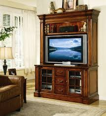 place 60 inch entertainment console with hutch in distressed