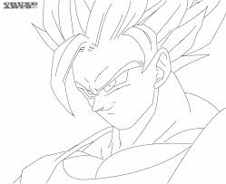 dragon ball z super saiyan free coloring page saiyan coloring